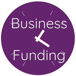 Purple clock with Business Funding available to small businesses