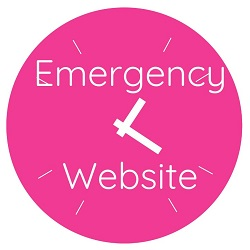 Pink clock Emergency website for small businesses if you have a cyber security issue or are hacked